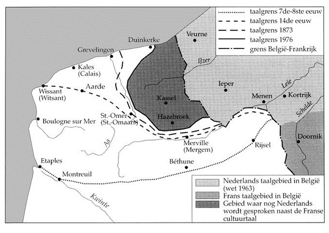 opschuiven taalgrens Frans-Vlaanderen